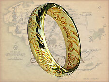 Lord of Rings Hobbit 18 Kt Gold GP Pendant LOTR Christmas Frodo Golam Ring