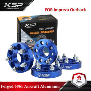 """4PC 1"""" Hubcentric Wheel Spacers 5x100 Adapters for Subaru Impreza WRX 2.5 FR-S"""