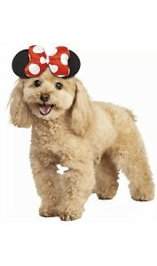Disney Minnie Mouse Ears Dog Headband Costume Mickey Mouse Puppy Pet Size M/L