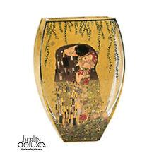 KLIMT Der Kuss NEU/OVP ovale Design Glas Vase 22cm Artis Orbis GOEBEL Geschenk