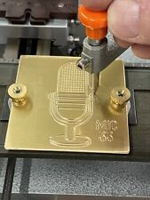 Microphone Ham Radio Master Template Brass Engraving For New Hermes Font Tray