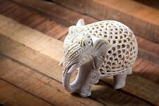 Nirvana-Class 2.5 Inch Hand Crafted Elephant Sculpture Wealth Animals Figurine