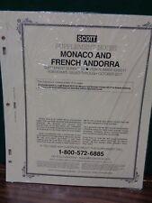 Monaco Andorra #68 Scott Specialty supplement Album collection 2017 NEW 333S017