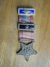 GAR Officer Medal with 2 Office Straps & Red ribbon