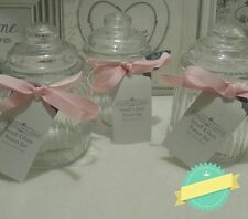 Vintage style Sweets Jar. Set of 3, Small, beauty, trinkets. kitchen. glass jar