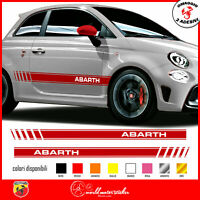 FASCE ADESIVE FIAT 500 ABARTH 595  adesivi fasce LATERALI strisce per auto1