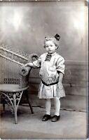 1910 Pretty Young Girl Hair Bow York Pennsylvania Real Photo Postcard CZ