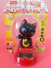 Daiso Japan Solor Powered Swinging Lucky Cat / Maneki Neko / Lucky beckoning F/S
