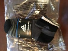 NWT ADIDAS MEN'S CUSHIONED MOISTURE WICKING 3 PK LOW CUT SOCKS, SHOE SIZE 6-12