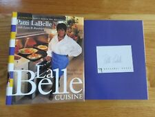 Celebrity Chef PATTI LaBELLE's signed LaBelle CUISINE 1999 1st Edition Book COA