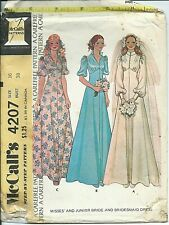 M 4207 sewing pattern 70's Bridal Bride Maid GOWN Wedding DRESS sew CHIC size 16