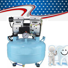 Dental Medical Air Compressor Quiet Noiseless Oil Free Oilless 550W f/Chair Fast