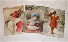 Set of 18 Vintage Christmas Labels Victorian Children Primitive /Grungy/ Antique