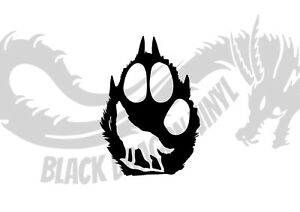 Bear Paw And Wolf Inspired Design Bedroom Wall Art Decal Vinyl Sticker