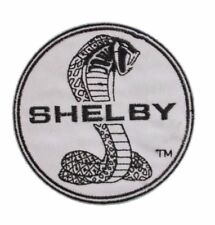 """SHELBY COBRA LOGO 3"""" BLACK/WHITE Embroidered Sewn/Iron PATCH"""