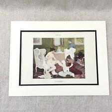 1898 Antique Print Female Nude Girl Painting Henry Lerolle Interior Scene