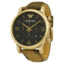 Emporio Armani AR1815 Rare Pale Gold Tone Case  Chronograph Watch For Men