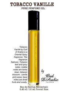 TOM TOBACCO VANILLE 12ML PURE PERFUME OIL SUPREME QUALITY ALTERNATIVE RETAIL BOX