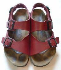 Birkenstock Birki's Red Buckle Strap Sandals Ladies size 5