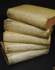 Buddeus – Lexicon 5 Bände – 1730-1740 - Folianten