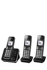 NEW KX-TGD323ALB DECT Cordless Phone with Answering Machine Triple Pack