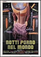 NOTTI PORNO NEL MONDO MANIFESTO LAURA GEMSER JOE D'AMATO 1977 MOVIE POSTER 4F