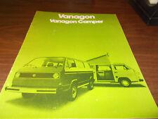 1980 Volkswagen Vanagon 16-page Sales Catalog