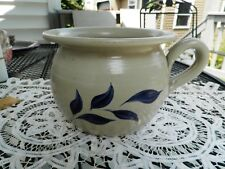Williamsburg Pottery Factory chamber pot cobalt blue flowers