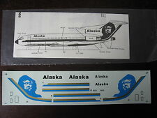 1/144 DECALS FOWLER AVIATION ALASKA AIRLINES BOEING B-727  DECALCOMANIE