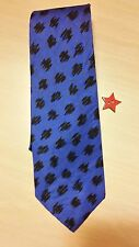 THIA SILK ELECTRIC BLUE BLACK ABSTRACT  MENS NECKTIE FREE SHIPPING