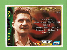 2002 WEETBIX  CRICKET CARD #11  NEIL  HARVEY  / #57  RICKY  PONTING