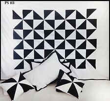 Black White Beautiful Twin Duvet Cover Set Patchwork 100%Cotton Bedspread #113