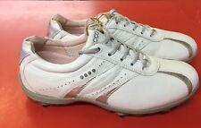 Women's ECCO Golf Shoes SZ. 6-6.5 US/EU 37 White/Silver Hydo~Max