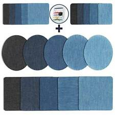20pcs Iron On Denim Repair Patches Kit For Mending Embellishing Blue Jean Tops