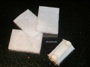 Nachhaltigkeit: 4x Ersatz-Filtermaterial Filtervlies für Dennerle Nano Eckfilter