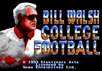 Bill Walsh College Football - Sega Genesis Game