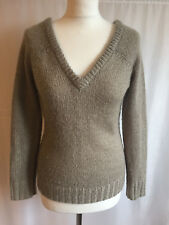 Lovely Joules Boutique Taupe Soft & Fluffy V Neck Jumper 8 or 10