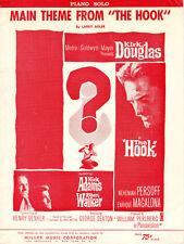 THE HOOK Music Sheet-1963-LARRY ADLER Piano Solo-KIRK DOUGLAS/ROBERT WALKER