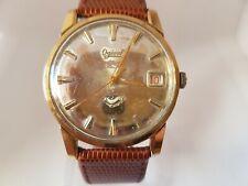 Vintage 1950's OVERSIZED 36 MM Gents Ogival 23 Jewels Felsa F4017 Silver Dial