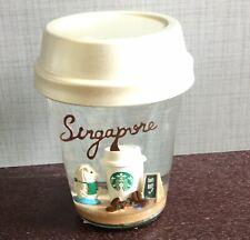 Starbucks SINGAPORE Merlion Green Apron Snow Globe White Year 2018 -No Card