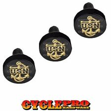 Black Billet Fairing Windshield Hardware Kit Harley Touring - USN NAVY ANCHOR
