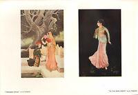 1902 Studio Estampado ~ Princesa Lotus ~ en La Oscuro Knight Por A. Tagore