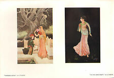 1902 Studio stampa ~ Principessa LOTUS ~ IN THE DARK KNIGHT da A. Tagore