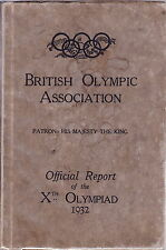SCARCE BRITISH OLYMPIC ASSOCIATION OFFICIAL REPORT FOR 1932 LOS ANGELES OLYMPICS