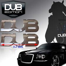 2PCS DUB LOGO EMBLEM BADGE DODGE CHARGER CHRYSLER BMW MBZ AUDI BENTLY INFINITY
