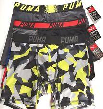 PUMA Boxer Briefs - 3 Briefs, Great Designs - Men's S - Free Shipping - NWT