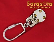 Sterling Silver 925 Mexico Two Tone Polish Brushed Lock Key Chain