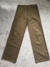 Men's JIGSAW Olive Khaki 100% Cotton Chino Trousers - 32W 34L Long Tall AUTUMN