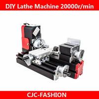 New 12V Miniature Metal Multifunction Lathe Machine DIY 20000Rev/min 45*135mm