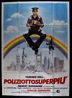 Manifesto Poliziotto Superpiu 'Terence Hill Mario Girotti Borgnine Corbucci M51